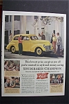 1940 Studebaker with a Yellow Studebaker Champion