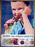 Click to view larger image of Vintage Ad: 1957 Mars Almond Bar (Image1)