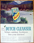 Click to view larger image of Vintage Ad: 1958 Dutch Cleanser (Image1)