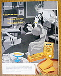 Click here to enlarge image and see more about item 14445: Vintage Ad: 1960 Cracker Barrel Cheddar Cheese