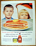 Click to view larger image of Vintage Ad: 1960 Log Cabin Syrup (Image1)
