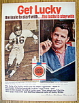 Click to view larger image of 1962 Lucky Strike Cigarettes w/Football's Frank Gifford (Image1)