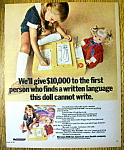 Vintage Ad: 1970 Peggy Pen-Pal Doll