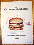 1971 Mc Donald's Restaurant with the Big Mac