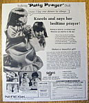 Click to view larger image of Vintage Ad: 1974 Patty Prayer Talking Doll (Image1)