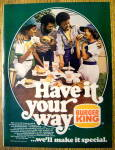 1976 Burger King with Family That Have's It Your Way