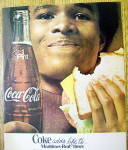 Click to view larger image of 1976 Coca Cola (Coke) with Man Eating Sandwich (Image2)