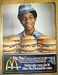 Click to view larger image of 1979 Mc Donald's Restaurant w/Boy & Tray of Hamburgers (Image1)