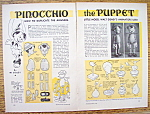 Click here to enlarge image and see more about item 14514: Vintage Ad: 1940 Pinocchio The Puppet