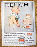 Click here to enlarge image and see more about item 14527: Vintage Ad: 1955 Swift Meat For Babies By N. Rockwell