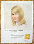 Click to view larger image of Vintage Ad: 1966 Breck Shampoo (Image1)