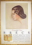 1960 Breck Shampoo with Side View of Brown Haired Woman