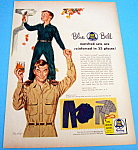 1954 Blue Bell Clothes with Boy on Father's Shoulders