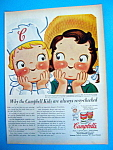 Vintage Ad: 1956 Campbell Soup w/ Campbell's Kids