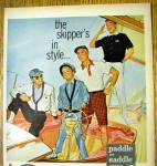 Click to view larger image of 1956 Paddle and Saddle Clothing with Men on Boat (Image2)