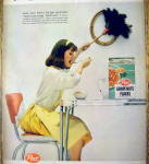Click to view larger image of 1959 Post Grapes-Nuts Flakes with Woman Eating (Image2)