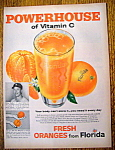 1959 Florida Fresh Frozen Orange Juice w/ Mickey Mantle