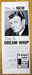 Vintage Ad: 1959 Dream Whip with Arthur Godfrey