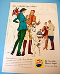 1960 Pepsi-Cola (Pepsi) with Group of People by Stables