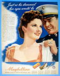 1943 Maybelline w/ a Soldier Putting On A Woman's Coa