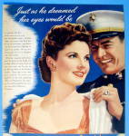 Click to view larger image of 1943 Maybelline w/ a Soldier Putting On A Woman's Coa (Image2)