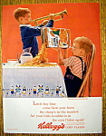 Click to view larger image of Vintage Ad: 1963 Kelloggs Corn Flakes (Image1)