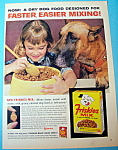 Click here to enlarge image and see more about item 14718: Vintage Ad: 1963 Friskies Mix Dog Food