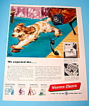 Click here to enlarge image and see more about item 14723: Vintage Ad: 1948 Western Electric
