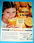 Vintage Ad: 1960 Orange Juice