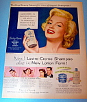 1953 Lustre Creme Shampoo with Lovely Marilyn Monroe