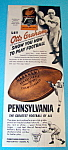 Click here to enlarge image and see more about item 14766: Vintage Ad: 1948 Pennsylvania Football /w Otto Graham