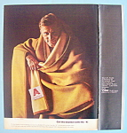 Click to view larger image of Vintage Ad: 1965 Acrilan Blanket with Kirk Douglas (Image1)