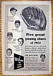 Vintage Ad: 1954 Wilson Baseball Glove w/Ted Williams