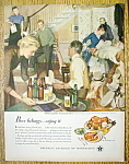 Click to view larger image of Vintage Ad: 1950 Beer Belongs By John Gannam (Image1)