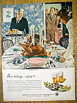 Click here to enlarge image and see more about item 14779: 1950 Beer Belongs By Douglas Crockwell w/Thanksgiving