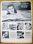 Click to view larger image of Vintage Ad: 1950 Jergens Lotion with Esther Williams (Image1)