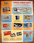 Click here to enlarge image and see more about item 14784: Vintage Ad: 1965 Famous Parker Games