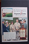 1941 Seagram's 7 Crown Whiskey with Men Saluting a Man
