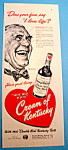 Click here to enlarge image and see more about item 14820: Vintage Ad: 1948 Cream of Kentucky By Norman Rockwell