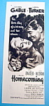 Vintage Ad: 1948 Homecoming w/Clark Gable