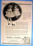 1934 Ivory Soap Flakes w/ Young Girl Looking in Mirror