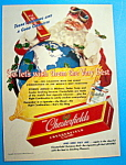 1943 Chesterfield Cigarettes with Santa Claus