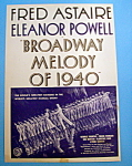 Vintage Ad: 1940 Broadway Melody of 1940 w/Fred Astaire