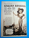 Vintage Ad: 1940 Lillian Russell with Alice Faye