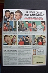 1941 Ovaltine with Family Getting Son to Gain Weight
