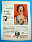 Vintage Ad: 1931 Princess Pat Almond Base Powder