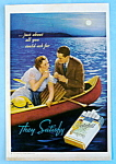 1935 Chesterfield Cigarettes w/ Couple Sailing In Boat