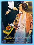 1932 Lucky Strike Cigarettes with Woman Smoking