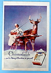 1935 Chesterfield Cigarettes w/Woman In A Sleigh