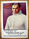 Click here to enlarge image and see more about item 14919: Vintage Ad: 1924 Bradley Sweaters with Jack Dempsey